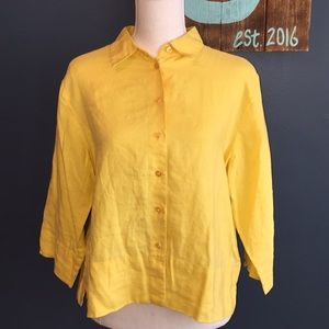 3/$15 Westbound | Yellow Linen Button Down